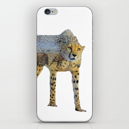 Cheetah Double Exposure iPhone Skin