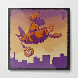 Trick or Treat Witchling Metal Print