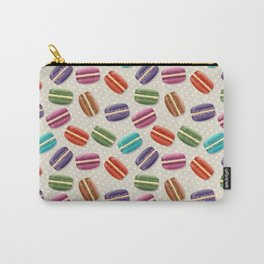 Macaron Cookies, Polka Dots - Blue Green Red Pink Carry-All Pouch