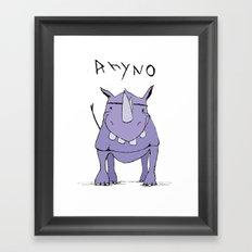 Rhyno Framed Art Print