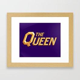 The Queen Full Logo Framed Art Print