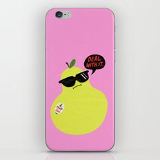 Pear Don't Care iPhone & iPod Skin