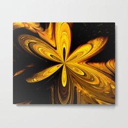Yellow Vibrations Metal Print