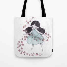 Flower hurricane Tote Bag