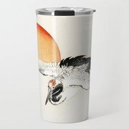 Flying Barn swallow by Kōno Bairei Travel Mug