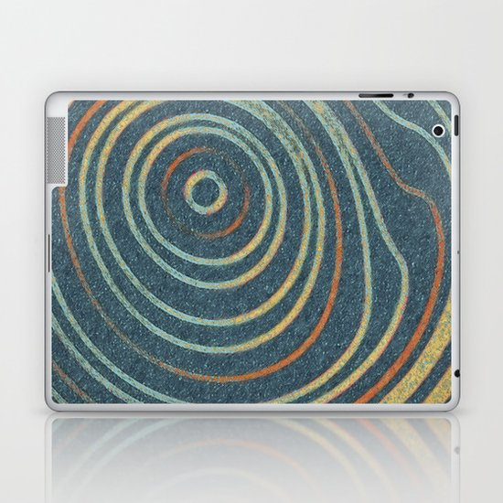 Curved Stripes Laptop & iPad Skin