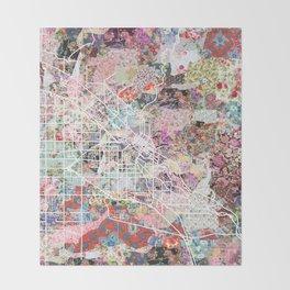 Boise map Throw Blanket