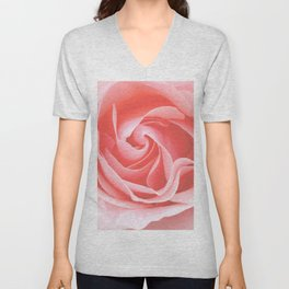 Velvet pink rose - Roses Flowers Flower Unisex V-Neck