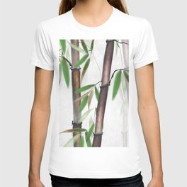 Bamboo Forest on patterned cloth T-shirt