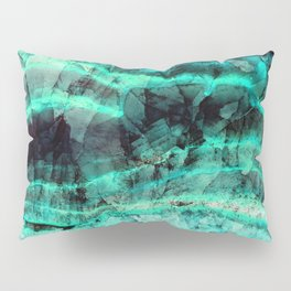 Turquoise onyx marble Pillow Sham