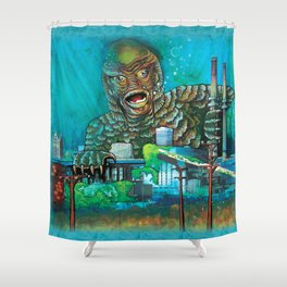 MILWAUKEE: It Came From Lake Michigan Shower Curtain