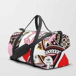 RED &  PINK QUEEN OF HEARTS CASINO ART Duffle Bag
