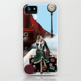 Don't miss the tain of your life iPhone Case