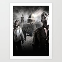 zombies Art Prints featuring Zombies by Joe Roberts