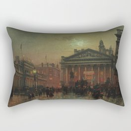 Mansion House, Kings Coronation Eve, London, England by Louis H. Grimshaw Rectangular Pillow