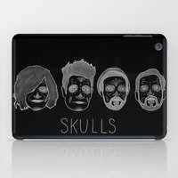 bastille iPad Cases featuring Bastille Skulls by wellsi