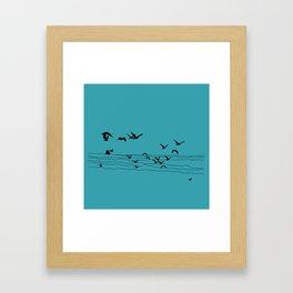 Seagull Beach by Seasons K Designs Framed Art Print
