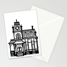 Old Victorian House - black & white Stationery Cards