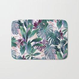 Tropical Emerald Jungle in light cool tones Bath Mat
