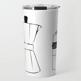 Coffee Tools: Moka Pot & Coffee Grinder Travel Mug