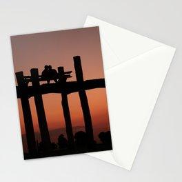 Sunset Lovers | Mandalay Myanmar / Burma | Warm toned photo print | Fine Art Travel Photography Stationery Cards