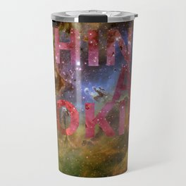 Galactic Positivity Wall Text Travel Mug