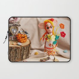 Flower Lady Laptop Sleeve