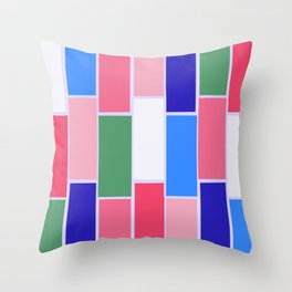 Colored Tiles Version 2 Throw Pillow