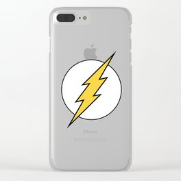The Flash Logo 2 Clear iPhone Case