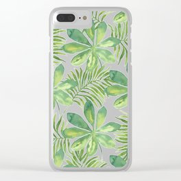 Tropical Branches Pattern 01 Clear iPhone Case