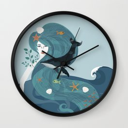Aquatic Life of a Seaflower Wall Clock
