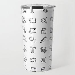 Designer Icons - White Travel Mug