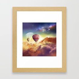 clouds,sky and ballons Framed Art Print