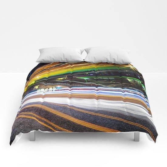 Light Trails 1 Comforters