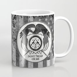 Faith Hope Liberty & Freedom Eagle on US flag Coffee Mug