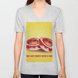 Two hot donuts Unisex V-Neck