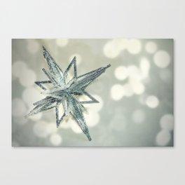 Sparkly christmas glitter star  Canvas Print