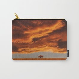 Rhode Island Tree and Timothy and Alfalfa Field Landscape Painting by Jeanpaul Ferro Carry-All Pouch