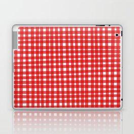 Red Gingham Laptop & iPad Skin