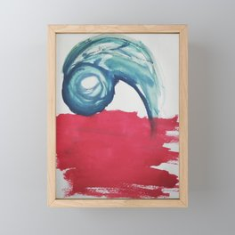 Life in motion - water and fire Framed Mini Art Print