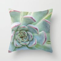 succulent Throw Pillows featuring Succulent by Tammy Franck