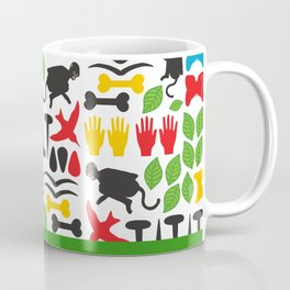 Frida Cutout Pattern Coffee Mug