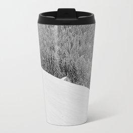 balanced winter cabin idyll Travel Mug
