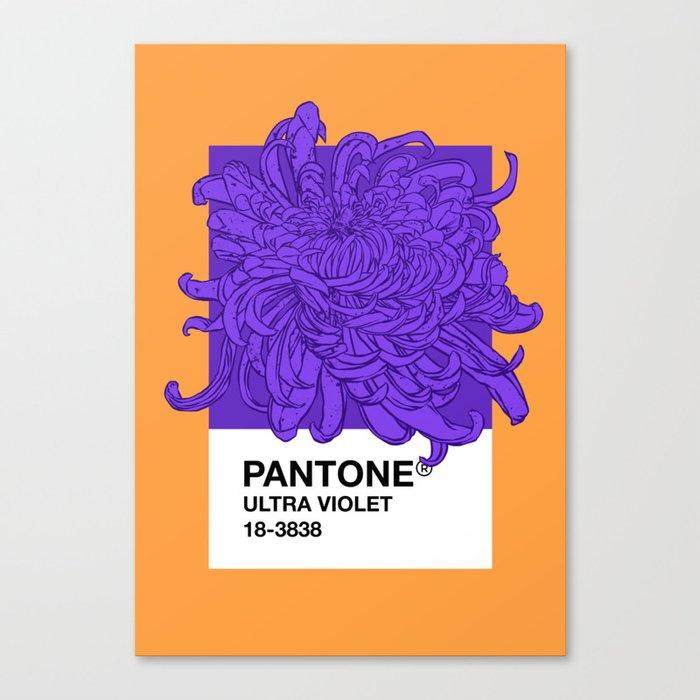 Pantone Ultra Violet 2018 Canvas Print