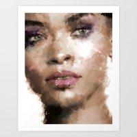 rihanna Art Prints featuring Rihanna by Dnzsea