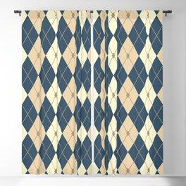Rhombus Color Combination Blackout Curtain