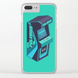Polybius Arcade Game Machine Cabinet - Isometric Green Clear iPhone Case