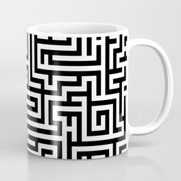 Black and white Labyrinth Coffee Mug