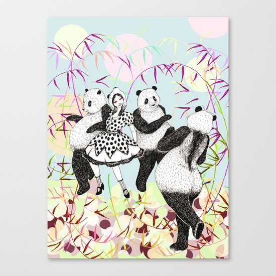Panda Dance Canvas Print