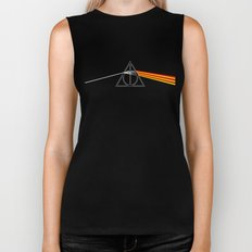 the darkside of the deathly hallows Biker Tank